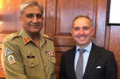 آرمی چیف کی برطانیہ کےقومی سلامتی کےمشیر سے ملاقات