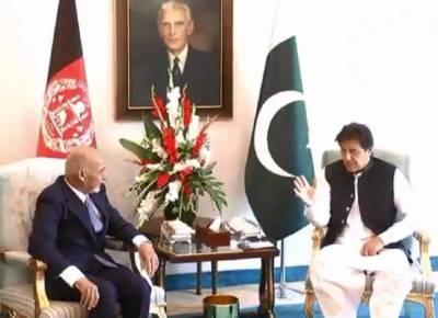 وزیراعظم اور افغان صدر کے درمیان ملاقات، دو طرفہ تعلقات پر تبادلہ خیال