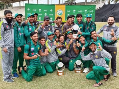 جنوبی افریقہ کو وائٹ واش شکست ،پاکستان انڈر19 ٹیم نے تاریخ رقم کردی