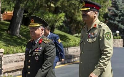 پاک ترک افواج کے درمیان اعلیٰ سطحی ملاقات ، دفاعی تعاون بڑھانے پر بات چیت