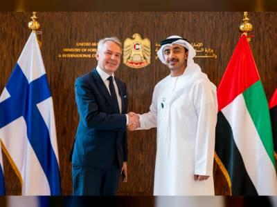 فن لینڈ کے وزیر خارجہ کی اماراتی ہم منصب سے ملاقات ، اہم امور پر تبادلہ خیال