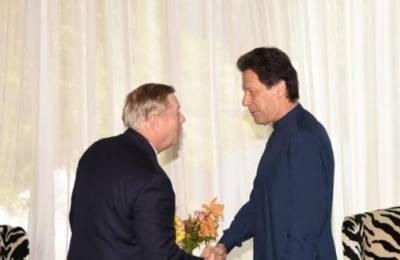 وزیراعظم کی امریکی سینیٹر لنزے سے ملاقات، باہمی دلچسپی کے امور پر تبادلہ خیال
