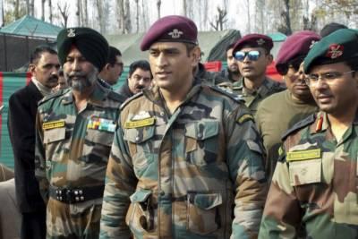 دھونی بھارتی فوج کے ہمراہ مقبوضہ کشمیر میں ڈیوٹی سرانجام دیں گے