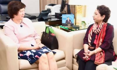 ملیحہ لودھی کی صدر سلامتی کونسل سے ملاقات، کشمیر کے معاملے پر گفتگو