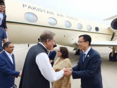 مقبوضہ کشمیر کی صورتحال،شاہ محمود اہم سفارتی مشن پر چین پہنچ گئے