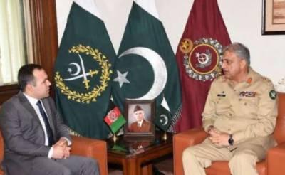 آرمی چیف جنرل قمر جاوید سے افغان سفیر کی اہم ملاقات