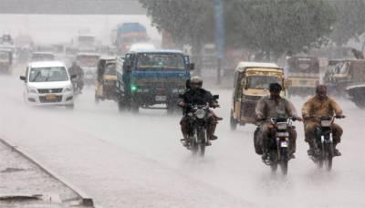 کراچی سمیت سندھ کے مختلف شہروں میں تیز بارش