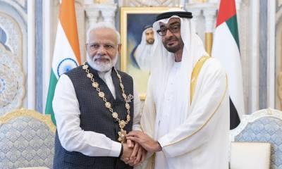 متحدہ عرب امارات نے گجرات کے قصائی ،کشمیریوں کے قاتل مودی کو اعلی ترین سول اعزاز سے نواز دیا