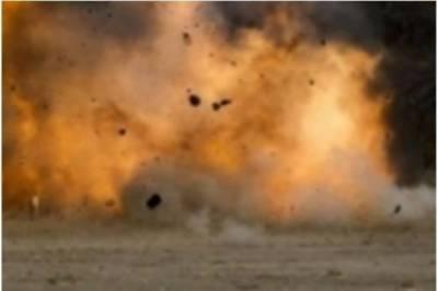نصیر آباد کے قریب زوردار دھماکا، پولیس اہلکار سمیت 5 افراد زخمی