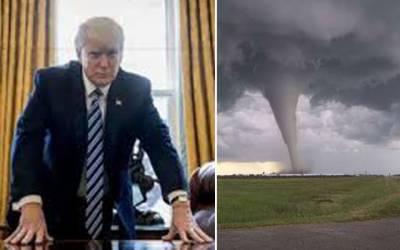 ٹرمپ نے سمندری طوفان کو روکنے کیلئے انوکھی تجویز دیدی