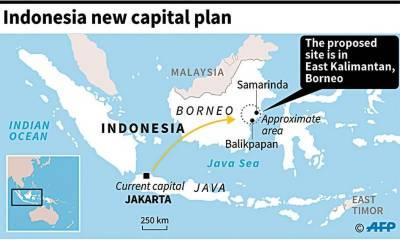انڈونیشیا کا دارالحکومت کو نئے جزیرے میں منتقل کرنے کا فیصلہ