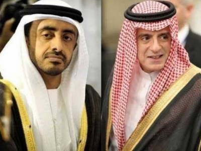 سعودی عرب اور یو اے ای کے وزرائے خارجہ آج پاکستان پہنچیں گے