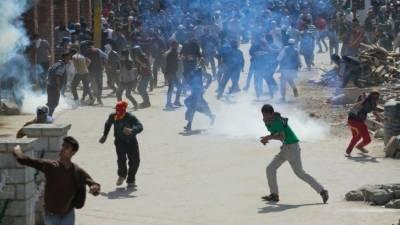 مقبوضہ کشمیر میں پرتشدد مظاہرے ، ایک نوجوان شہید