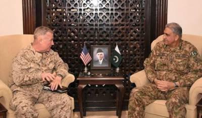 آرمی چیف سے امریکی سینٹ کام کے کمانڈر کی ملاقات ، مقبوضہ کشمیر کی صورتحال پر تبادلہ خیال
