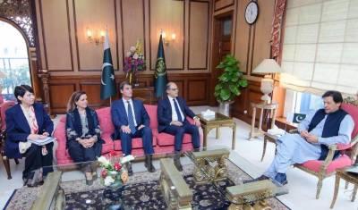 وزیراعظم سے آئی ایم ایف کے وفد کی ملاقات، معاشی امور پر تبادلہ خیال