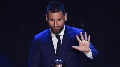 لوئنل میسی فیفا پلیئر آف دی ائیر کا ایوارڈ چھٹی مرتبہ جیت گئے
