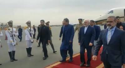 وزیراعظم عمران خان ایک روزہ دورے پر ایران پہنچ گئے