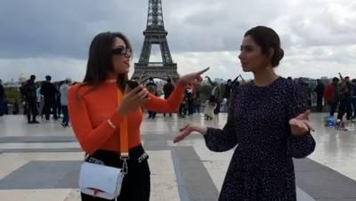 ماہرہ خان کی ایفل ٹاور کے سامنے لبنانی اداکارہ کے ساتھ ڈانس کی وڈیو وائرل