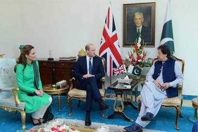وزیراعظم اور صدر سے برطانوی شاہی جوڑے کی ملاقات
