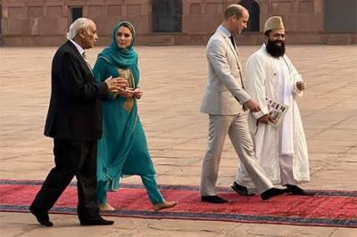 شہزادہ ولیم اور شہزادی کیٹ مڈلٹن کا تاریخی بادشاہی مسجد کا دورہ