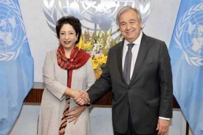 ملیحہ لودھی کی سیکریٹری جنرل اقوام متحدہ سے الوداعی ملاقات