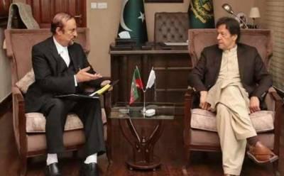 عمران خان سے بابر اعوان کی ملاقات ، پی ٹی آئی فارن فنڈنگ کیس پر تبادلہ خیال