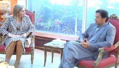 وزیراعظم عمران خان سے نیدرلینڈ کی ملکہ میکسیما کی ملاقات