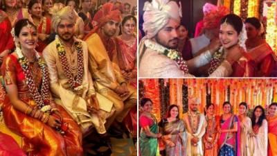 بھارتی کرکٹر منیش پانڈے نے تامل اداکارہ سے شادی کرلی