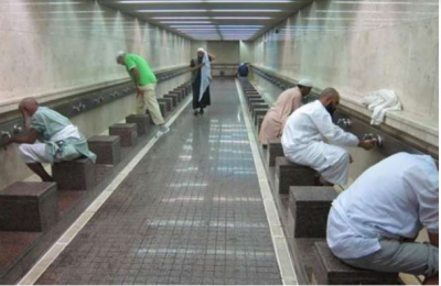 مسجد الحرام میں وضوکے لیے پانی کی مقدار گھٹا دی جائے گی