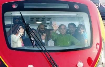 اورنج لائن میٹرو ٹرین کی افتتاحی تقریب کے لیےشہباز شریف مدعو