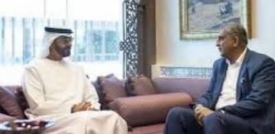 آرمی چیف جنرل قمر جاوید باجوہ کی شیخ محمد بن زید النیہان سے ملاقات