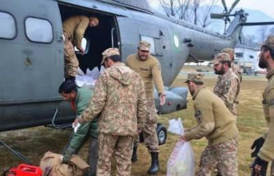 برفباری سے متاثرہ علاقوں میں پاک آرمی کی امدادی سرگرمیوں جاری