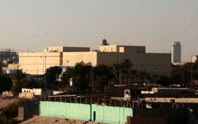 بغداد، امریکی سفارتخانے پر راکٹ حملے