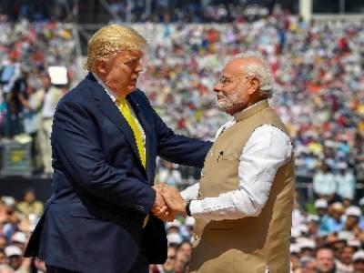 بھارتی سرزمین پر کھڑے ہو کر ڈونلڈ ٹرمپ کا پاکستان کے حق میں بیان سے بھارتی میڈ یا کو مرچیں لگ گئیں