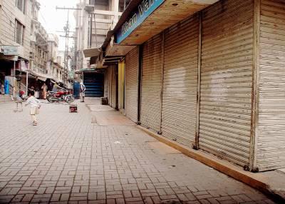 پنجاب میں لاک ڈاؤن کا پہلا دن، دکانیں اور دفاتر بند