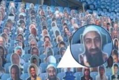 انگلش کلب سٹیڈیم میں اسامہ بن لادن کی تصویر پر نیا تنازع