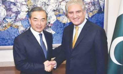 پاکستانی اورچینی وزرائے خارجہ کا رابطہ، باہمی تعاون کے فروغ پر اتفاق