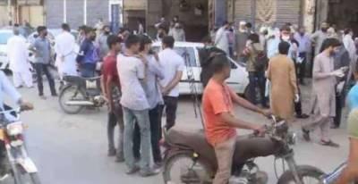 فیصل آباد، ایس او پیز کی خلاف ورزی کر نے پر تاجروں کو گرفتار کر لیا گیا