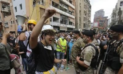 بیروت دھماکے کے بعدلبنان میں حکومت مخالف مظاہرے