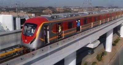 25 اکتوبر کو اورنج لائن ٹرین چلانے کی منظوری دے دی گئی