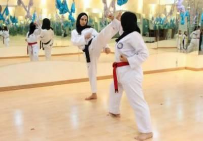 سعودی لڑکیوں کی کراٹے سیکھنے میں دلچسپی بڑھ گئی