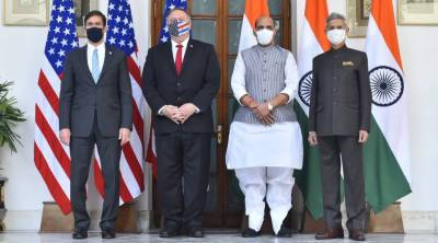 Raj Nath, Mike Pompeo, Defense Agreement between India and US