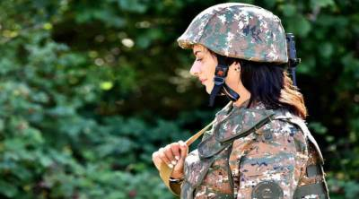 Armenia PM's wife,Anna hakobyan,combat training,Azerbaijan