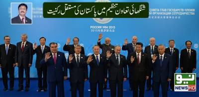 شنگھائی تعاون تنظیم میں ہاکستان کی مستقل رکنیت
